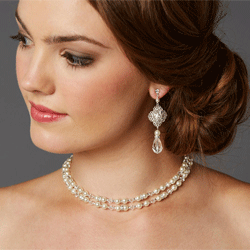 Pearl and Filigree Bridal Back Necklace